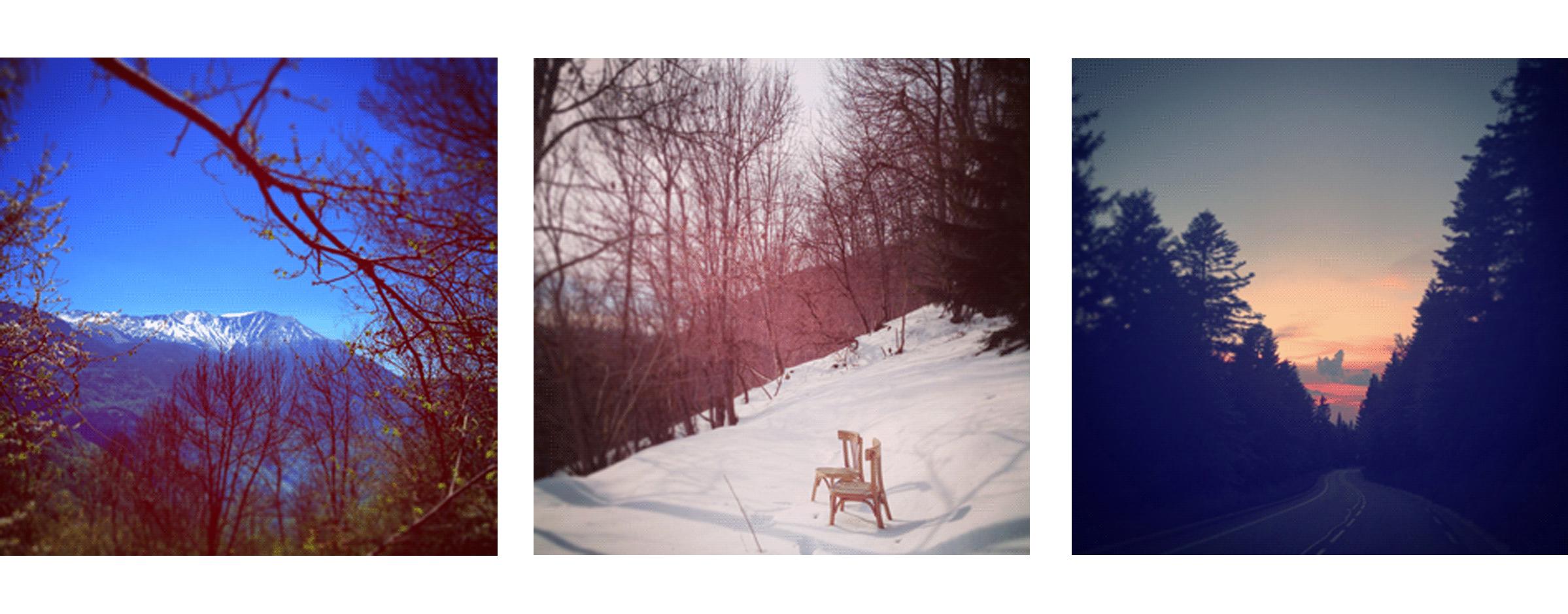 Chloe perez photographie, montagne, chaise dans la neige, la montagne ça vous gagne, présentation Chloé, photographe professionnelle fun et décontractée