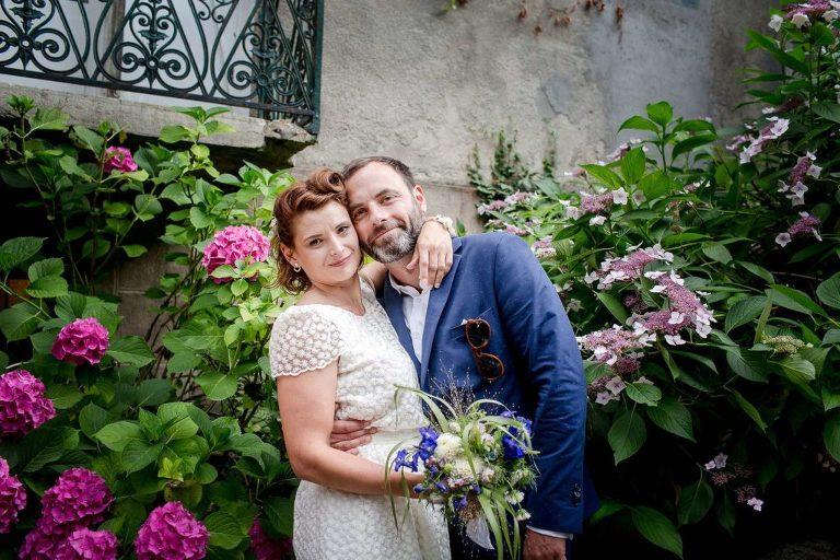 mariage dans la maison familiale en Savoie